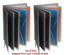 2 Plastic Wallet Insert Replacement Picture Card Holder Trifold 6Pg MADE IN USA