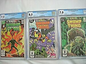 DC SAGA OF THE SWAMP THING #13 CGC 7.5 VF- #27 8.5 VF+ #28 7.0 FN/VF Alan Moore