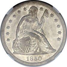 1850-O $1 AU50 NGC Seated Liberty