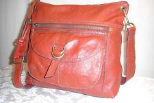 FOSSIL Sasha Large   Red  Leather Crossbody Shoulder  Bag
