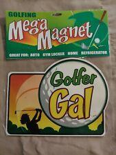 "New listing *BRAND NEW* - ""Golfer Gal"" - Large Car Magnet - Golf ~"