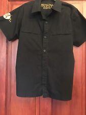Mens Shirt L Brixton SHOPLIFTER Black Short Sleeved See Measurements (B12)