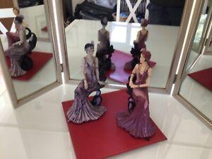 Shudehill Art Deco Figurines Ladies Seated x 2 off