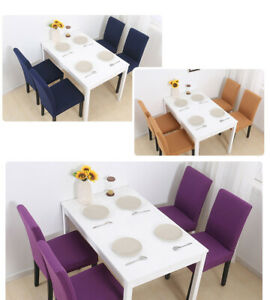 High Quality 92% Polyester 8%Spandex Solid Color All Purpose Fabric Chair Covers