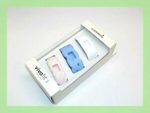 Garmin Vivofit 3 Alexandra Collection Bands - White/ Light Blue/ Light Pink