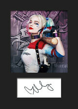 MARGOT ROBBIE (Suicide Squad - HARLEY QUINN) #1 A5 Signed Mounted Photo Print
