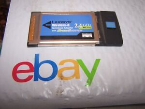 Linksys WPC54GS Wireless-G PCMCIA Notebook Adapter
