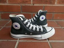 Authentic...CONVERSE Black Hi-Top Trainers * s4 uk * NICE CONDITION!