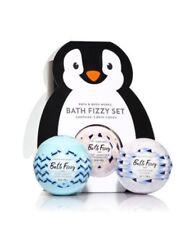 Bath and Body Works Penguin Bath Fizzy Set (Coconut, Lavender & Pink Jasmine)
