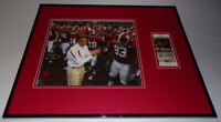 Nick Saban Framed 16x20 Photo & 2008 Alabama vs Tulane Replica Ticket Set