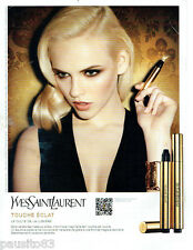 PUBLICITE ADVERTISING 125  2011  YVES SAINT LAURENT maquillage TOUCH ECLAT