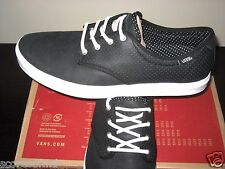 Vans Mens Ludlow Dots Black & White Leather Skate shoes Size 12 VN-0OKY28B New