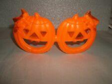 Vintage Halloween Pumpkin Eye Glasses Made In Hong Kong