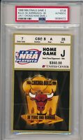 1996 NBA Finals Chicago Bulls v Seattle GM 2 Ticket Stub PSA #072 Michael Jordan