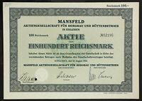 GERMANY 850/B&M -Mansfeld Aktiengesellschaft für Bergbau und Hüttenbetrieb 1933