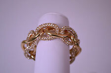 Call4Style Pave Stone Link Stretch Bracelet Gold