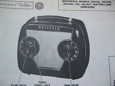 MOTOROLA 59L11Q, 59L12Q, 59L14Q, HS-187 PORTABLE RADIO PHOTOFACT
