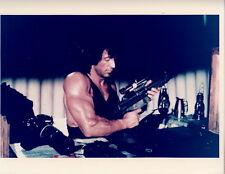 Sylvester Stallone with machine gun 8x10 photo P4255