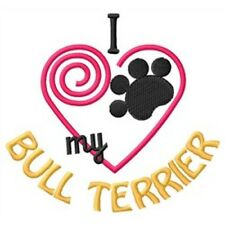 I Heart My Bull Terrier Ladies Short-Sleeved T-Shirt 1382-2 Size S - Xxl