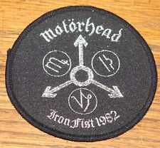MOTORHEAD ORIGINAL VINTAGE 1982 EMBROIDERED WOVEN COLTH SEWING SEW ON PATCH