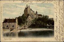 Sigmaringen Donautal 1903 Schloss Burg Festung Bauwerk mit A-Stempel Oehringen