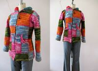 Nepalese Wool Patchwork Boho Hoodie Jacket Small Buy 3 + items for FREE Postage