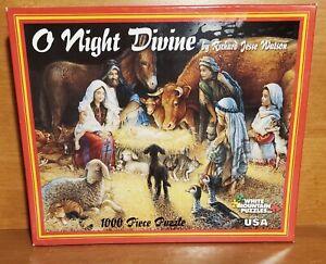 White Mountain O NIGHT DEVINE 1000 Piece Puzzle, 4855, Very good