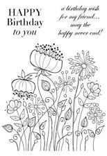MEADOW FLOWERS - Clear Magic Stamp - Woodware