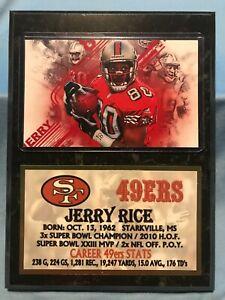 JERRY RICE  SAN FRANCISCO 49ers  SUBLIMATION PHOTO PLAQUE