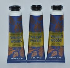 3 BATH & BODY WORKS TWILIGHT WOODS HAND CREAM LOTION SHEA BUTTER 1OZ TRAVEL SIZE