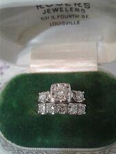 Vintage Diamond Wedding Ring Set ~  1 1/2 Carat - Appraised at $3800