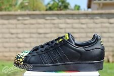 ADIDAS SUPERSTAR PHARRELL MR SUPERSHELL SZ 10 CORE BLACK YELLOW S83366