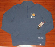 Mens '47 Brand Forward React Indiana Pacers 1/4-Zip Pullover Jacket Shift Blue-L