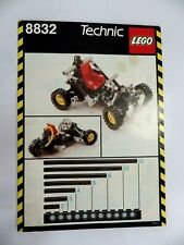 Notice LEGO technic de 1988 Manuel d'instructions montage réf :  8832