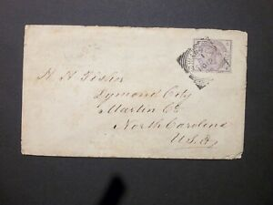 Wales Glamorganshire 1886 QV 21/2d lilac Envelope SWANSEA Squared Circle to USA