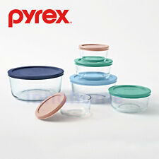 Pyrex Simply Store Round Storage Set with Pastel Lids