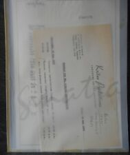Frank Sinatra Letter from Jerry Lewis +  1962 World Tour Itinerary - facsimilies