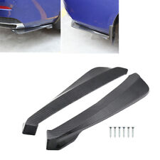 2pcs Carbon Style Rear Lower Bumper Diffuser Fin Spoiler Lip Wing Splitter