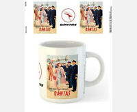 QANTAS 1950s ADVERTISEMENT 300ml MUG - SUPER SERVICE - LICENSED MERCHANDISE