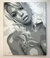 Pamela Anderson Original Painting Terry Kennedy Signed Acrylic On Canvas 24x30