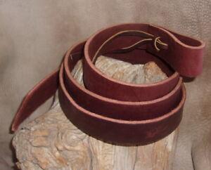 "New Thick Latigo Leather Tie Strap for Girth, Cinch, Western Saddle 1.5"" x 68""."