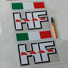 Lancia Stratos Fulvia HF Sticker Decal Pair 224mm L 130mm H & Italian Flag .