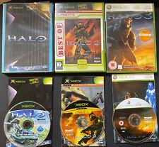 Halo 1,2 & 3 (Xbox Xbox et jeux 360). tous avec manuels Retro Gaming