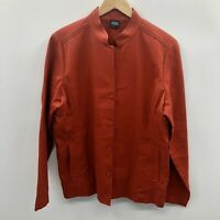 Eileen Fisher Womens Size Large* Notch Collar Textured Blazer Suit Jacket Red