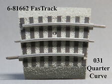 LIONEL 031 FASTRACK QUARTER CURVE TRACK train fas fast o gauge 031 6-81662