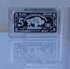 5 GRAMM SILBERBARREN - BÜFFEL - 5g Silber 999 American Buffalo Barren Silver Neu