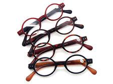 Beison Small Round Oval Spring Hinge Eyeglasses Reading Glasses Readers Full Rim