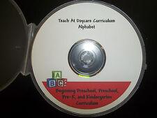 Preschool Alphabet Curriculum in PDF files.  Preschool homeschool activities for
