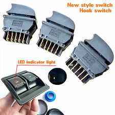 Universal 12V Car Power Window Switch 3 Button with Cable for 2 Door green ligth