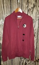 nwt boca classics fsu seminoles xxl men quarter zip sweater new